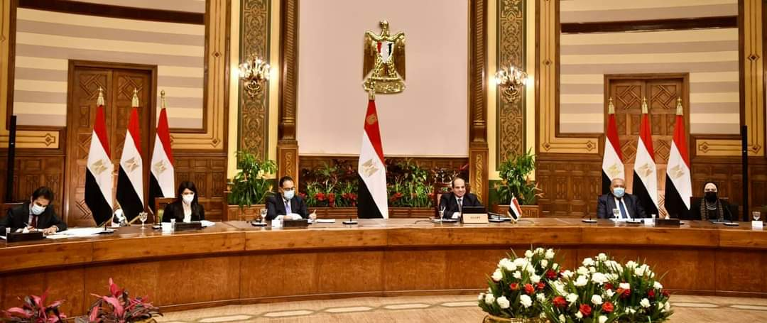 الرئيس السيسي يتحدث إلى غرفة التجارة ومجلس الأعمال المصري الأمريكي
